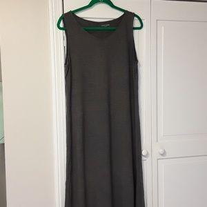 Eileen Fisher organic grey tank dress large